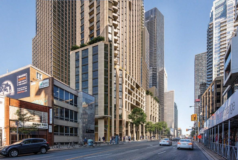 Rendering of 2180 Yonge Condos looking north on Yonge Street