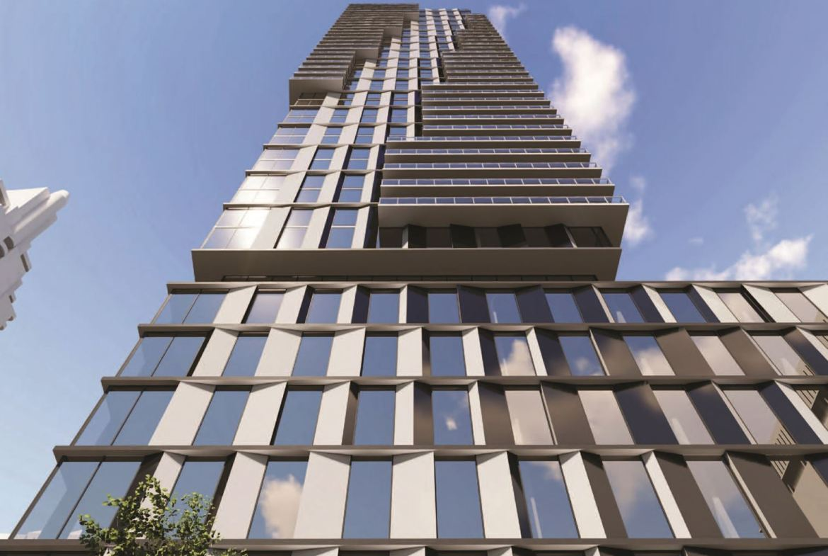 Exterior rendering of 5051 Yonge Street Condos ground-up view