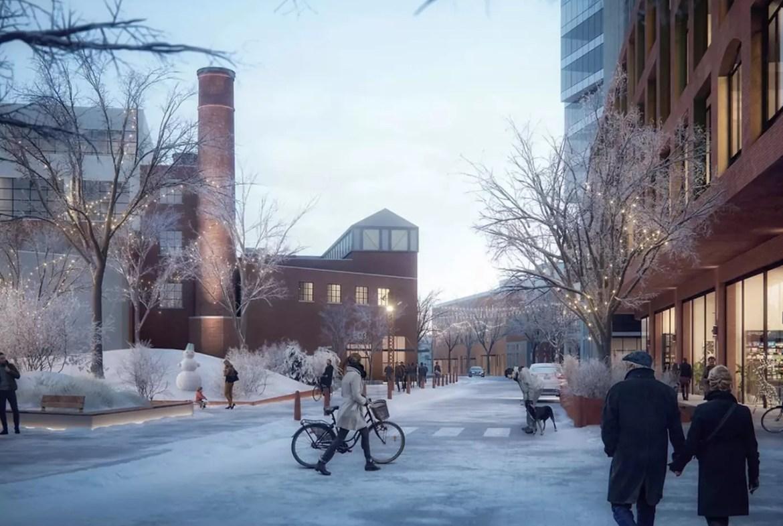Rendering of King Liberty Condos winter in Toronto's Liberty Village