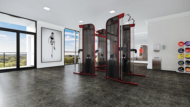 Rendering of Montebello Condos fitness centre