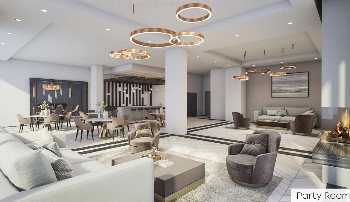 Rendering of Nahid Kennedy Condos party room