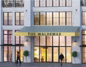 Rendering of The Waldemar Condos entrance