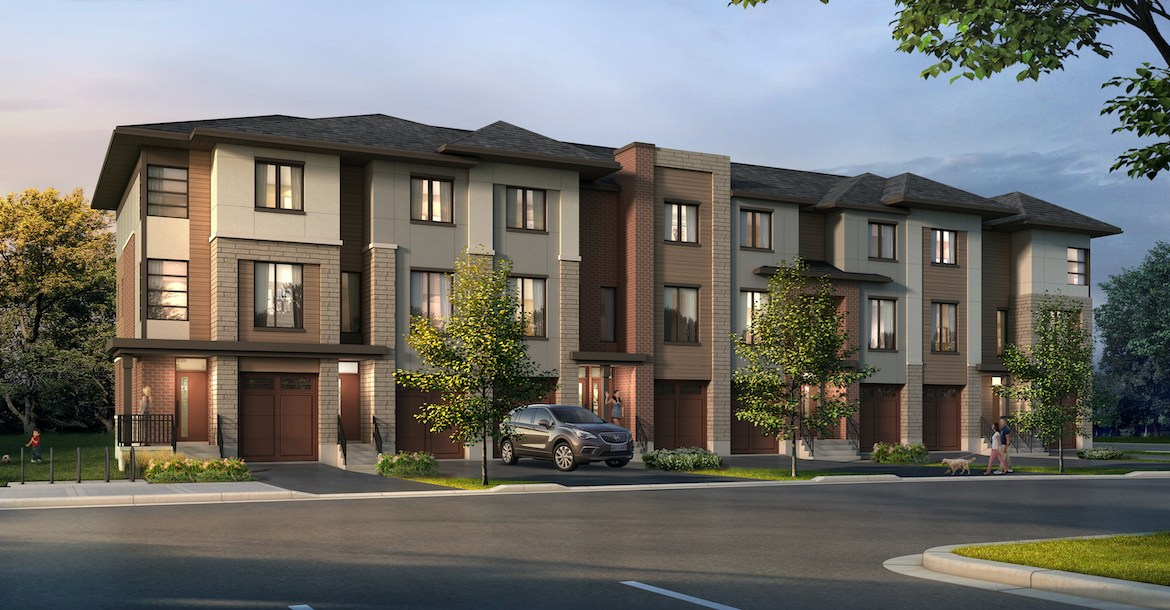 Exterior rendering of Waterstone Towns