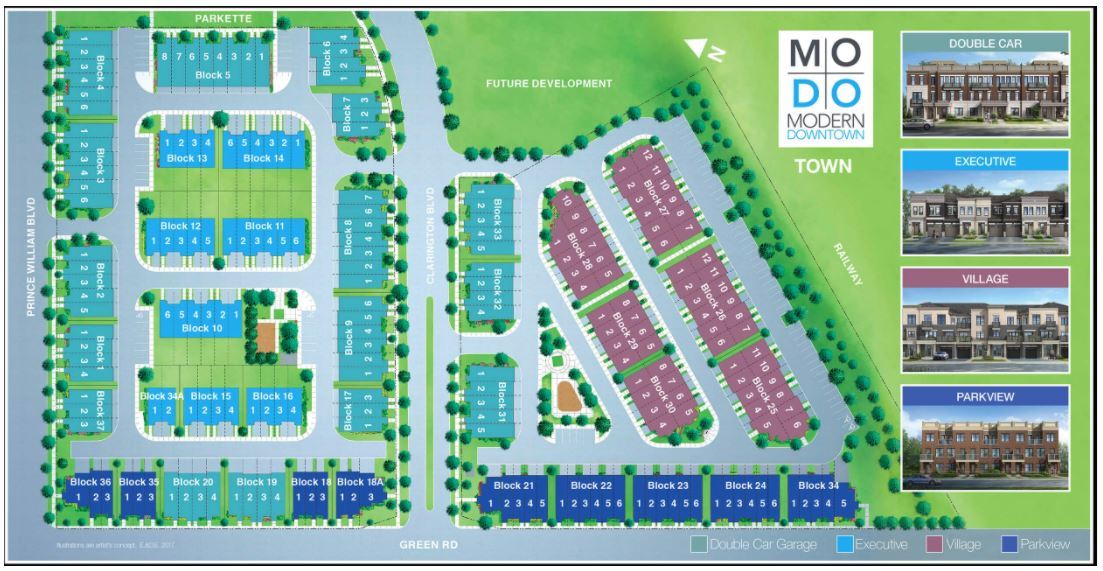 Site plan of MODO Condos and Towns