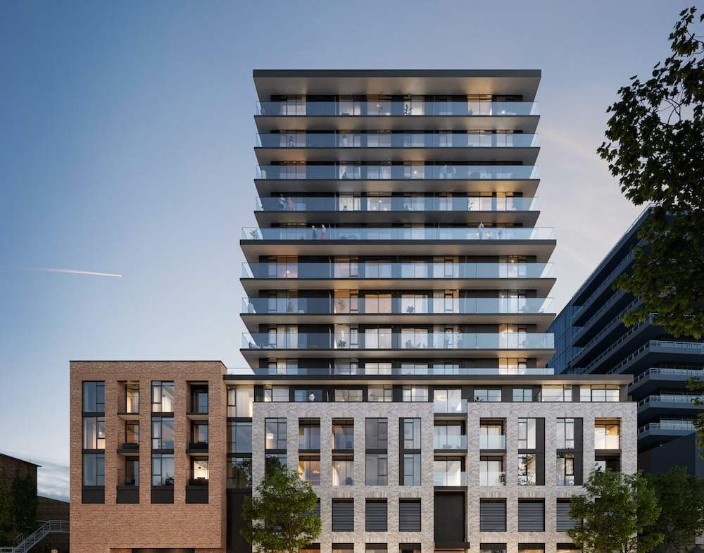 Rendering of 1 Jarvis Condos exterior front view