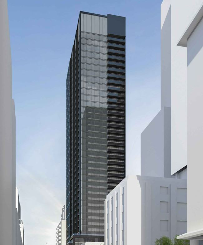 Rendering of 234 King Street East Condos exterior full side view