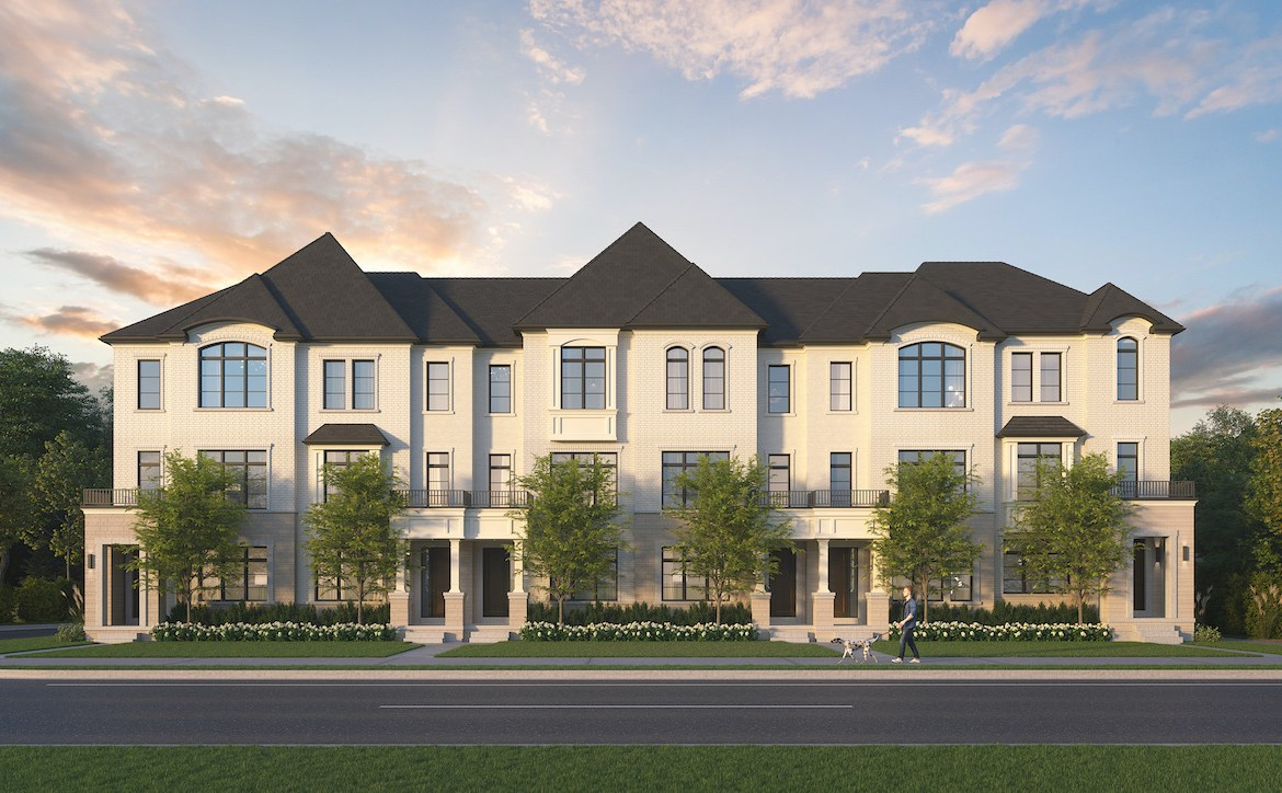 Rendering of Archetto Towns exterior elevation 1 BLK 01