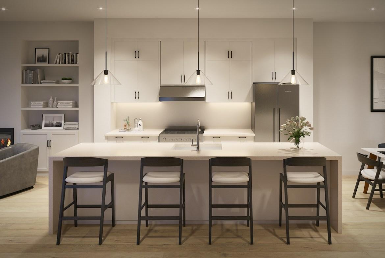 Rendering of Archetto Towns interior kitchen design 1