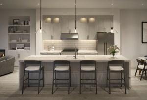 Rendering of Archetto Towns interior kitchen design 2