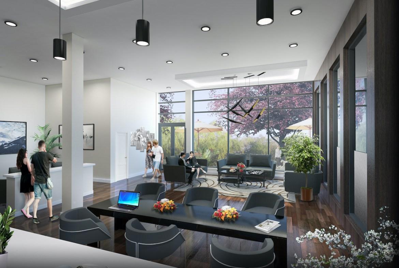 Rendering of Upper Vista Welland ground-floor amenity space
