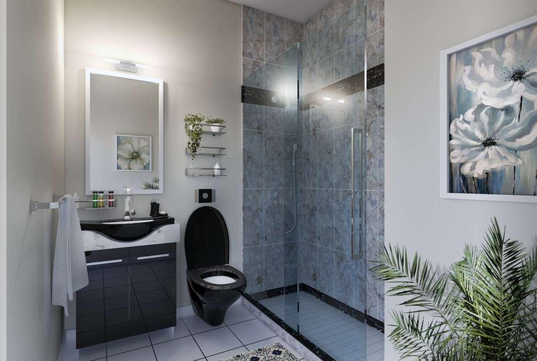 Rendering of Upper Vista Welland suite bathroom