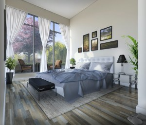 Rendering of Upper Vista Welland suite bedroom