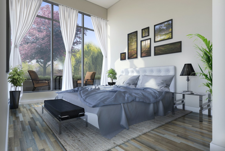 Rendering of Upper Vista Welland suite bedroom