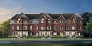 Rendering of Caledon Trails Townhouse Block Elevation A