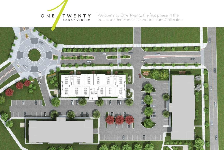 Site Plan of One Twenty Condos Pelham, Ontario