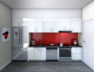 Rendering of 9560 Islington Urban Towns interior kitchen