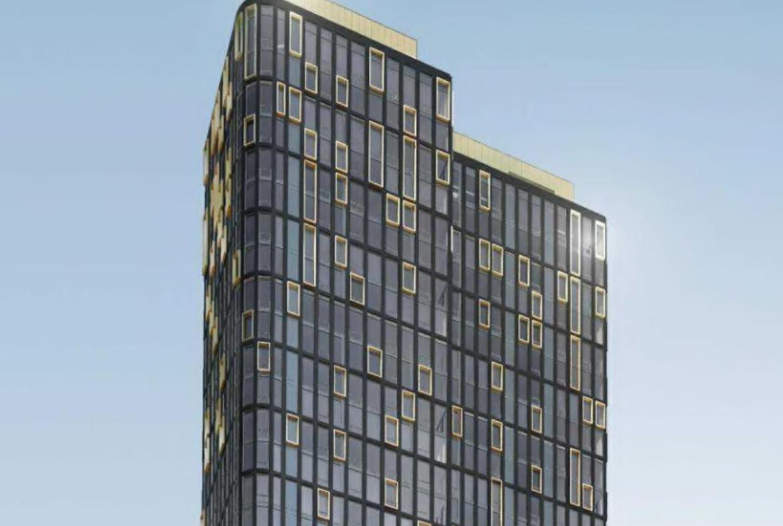 Exterior rendering of 120 Church Condos top half