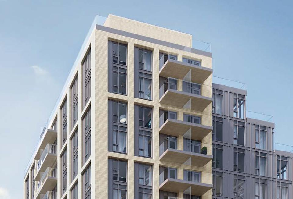 Rendering of 990 Bloor West Condos exterior top siding