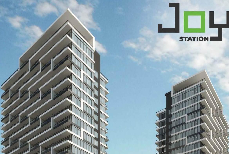 Joy Station Condos building exterior top half