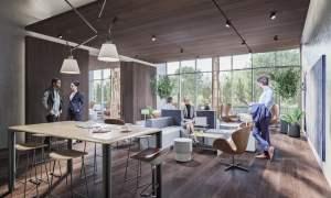 Rendering of Mondria Condos co-working space