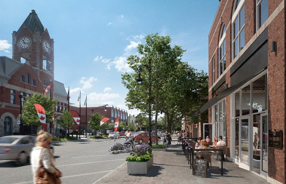 Rendering of The Regent Condos street view