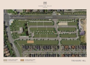 Site Plan of Markham Mills Towns