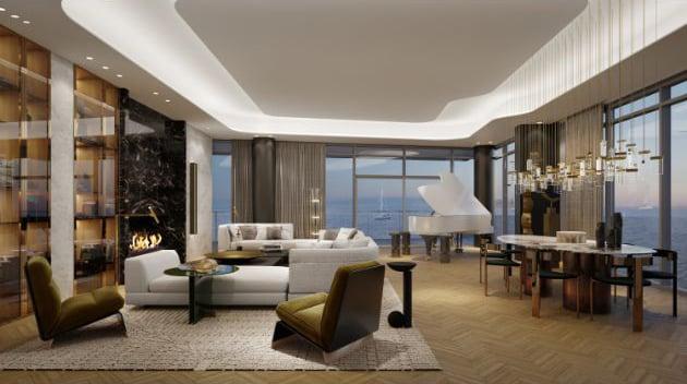 Rendering of 55 Port Condos suite interior