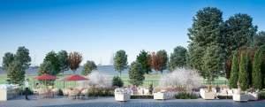 Rendering of 55 Port Condos outdoor courtyard