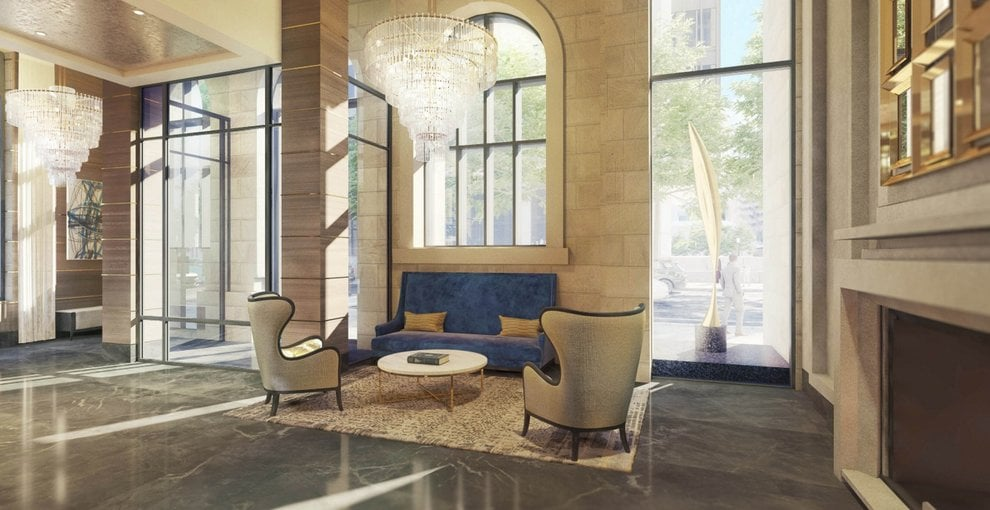 Rendering of 628 Saint-Jacques Condos lobby