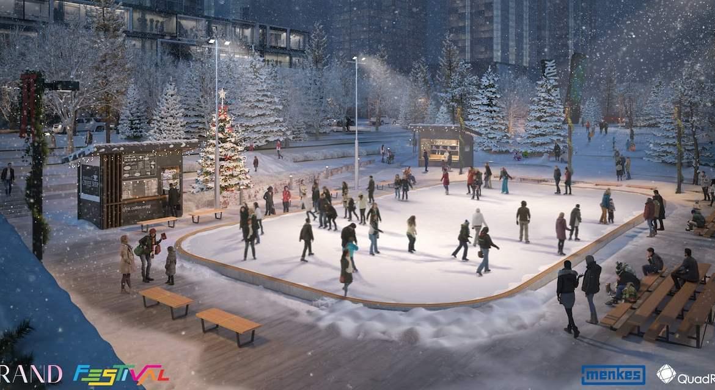 Grand Festival Condos Winter Wonderland Sunken Plaza