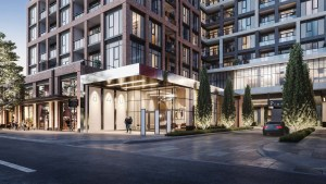 The Dupont Condos exterior building entrance
