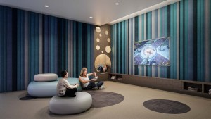 The Dupont Condos media game room