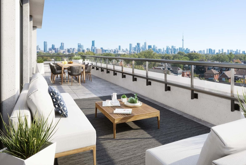 The Dupont Condos suite terrace
