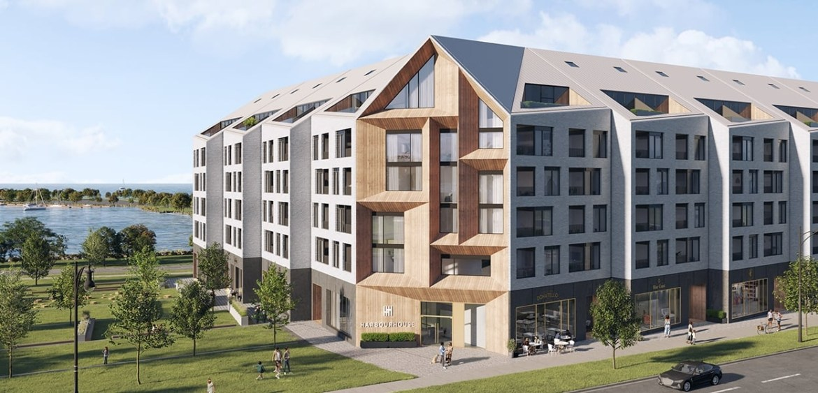 Exterior rendering of Harbour House Condos