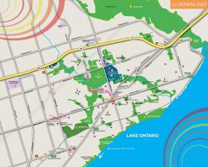 SweetLife Condos and Towns area amenity map