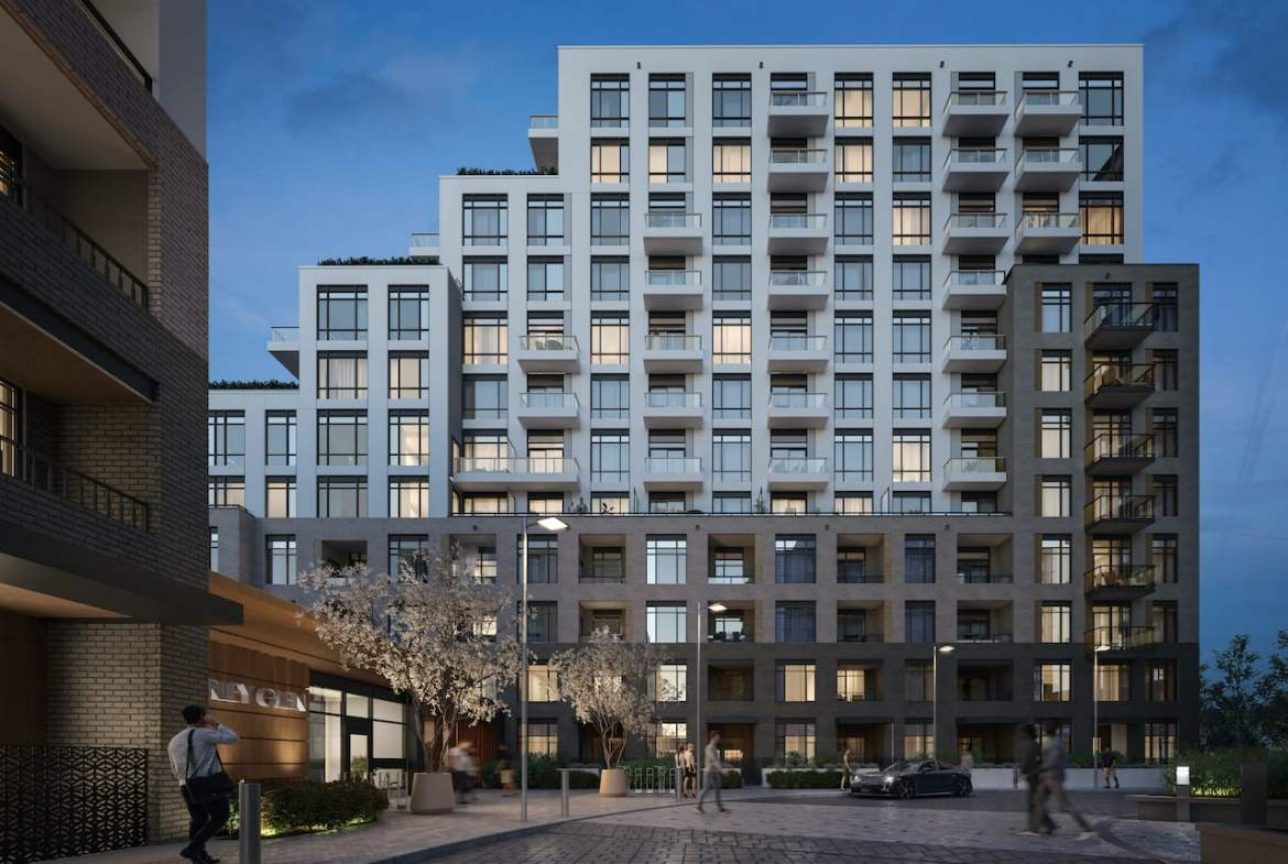 Rendering of Boulevard at the Thornhill exterior at night