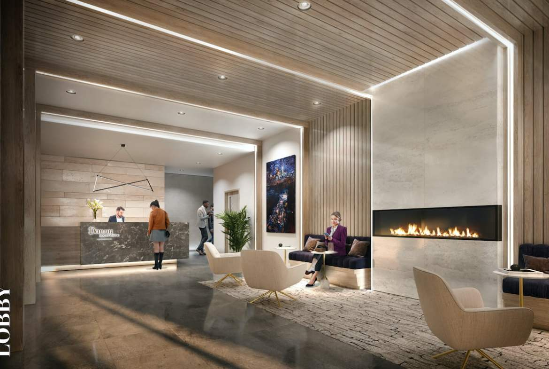 Rendering of Danny Danforth interior lobby