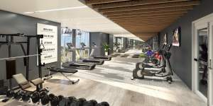 Rendering of LakeVu Two fitness room