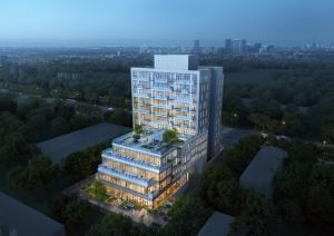 Rendering of East Pointe Condos aerial view of exterior