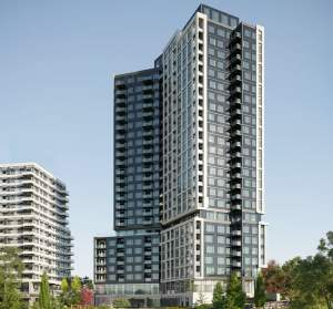 Exterior rendering of Kindred Condos