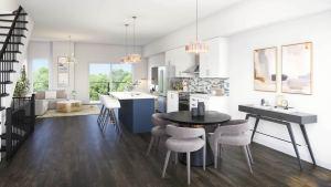 Rendering of Mariner's Pier Condos suite interior open-concept living