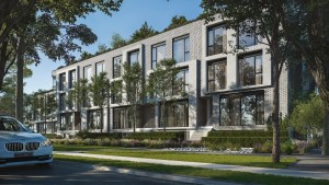 Rendering of Residences on Keewatin Park Townhomes exterior