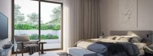 Rendering of Residences on Keewatin Park suite interior bedroom