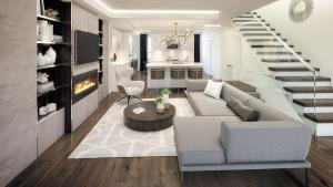 Rendering of SF3 Condos and Towns interior