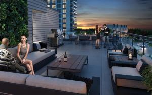 Rendering of SF3 Condos and Towns rooftop terrace