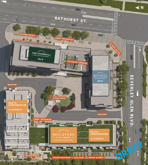 Site plan of Boulevard at the Thornhill Condos