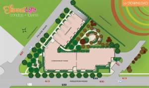 SweetLife Condos and Towns site plan
