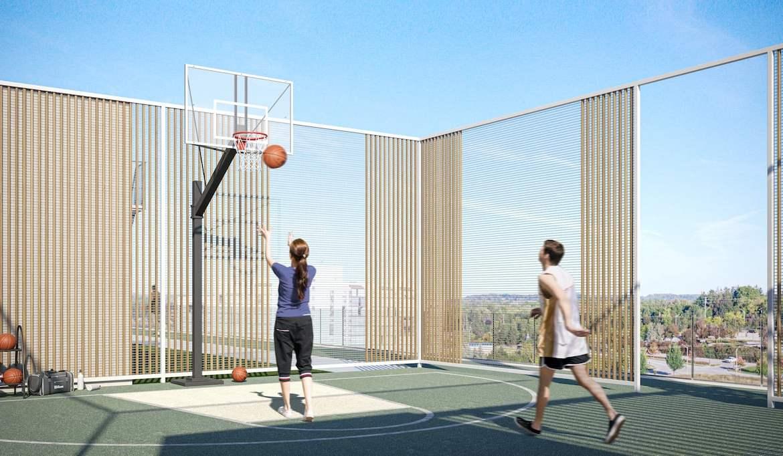 Rendering of 79825 Condos Exterior basketball court
