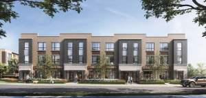 Rendering of Glenway Urban Towns exterior