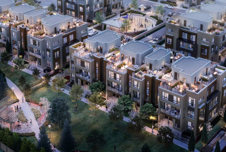Rendering of Glenway Urban Towns aerial